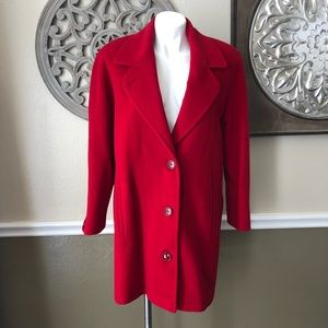 Pretson & York Red Merino Wool coat size 8